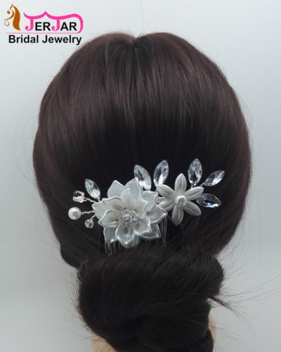 Luxury Bridal Hair Combs Wedding Women Hair Jewelry Fashion Silver Headpiece Headwear Elegant Party Prom Ornaments Accessories