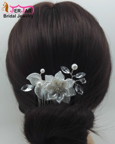 Silver Hair Jewelry Fashion Luxury Bridal Hair Combs Women Headpiece Wedding Headwear Party Crystals Hair Ornaments Accessories