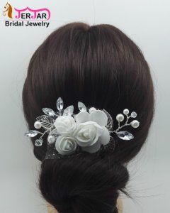 Bridal Hair Combs Women Wedding Silver Hair Jewelry Fashion Party Headpiece Luxury Headwear Elegant Ornaments Accessories