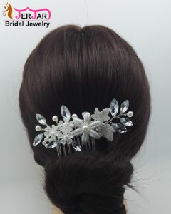 Luxury Bridal Hair Combs Wedding Hair Jewelry Fashion Prom Silver Headpiece Women Headwear Elegant Party Ornaments Accessories