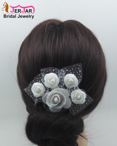 Luxury Wedding Bridal Hair Combs Fashion White Flower Hair Jewelry Women Headpiece Headwear Party Prom Hair Ornaments Accessories
