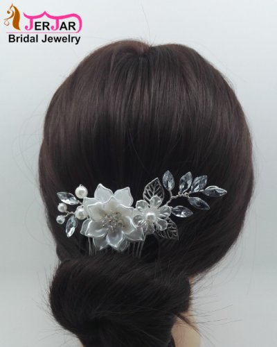 Silver Bridal Hair Jewelry Fashion Hair Combs Women Headpiece Wedding Headwear Luxury Party Crystals Hair Ornaments Accessories