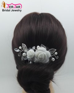 Fashion Silver Hair Jewelry Luxury Wedding Bridal Hair Combs Women Headpiece Headwear Party Crystals Hair Ornaments Accessories