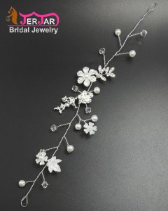 Fashion European Bridal Headbands Bridesmaid Hairband Delicated Silver Hair Jewelry Wedding Headpiece Accessories for Women Prom